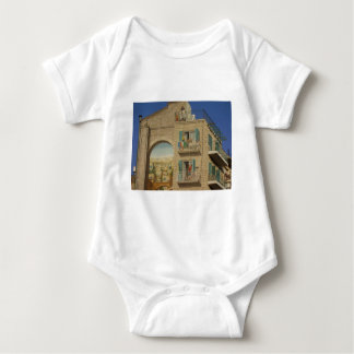 Panited wall of a house in Jerusalem Baby Bodysuit