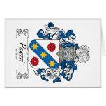 Panizzi Family Crest Greeting Card