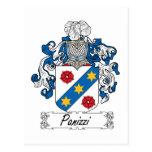 Panizzi Family Crest Postcard