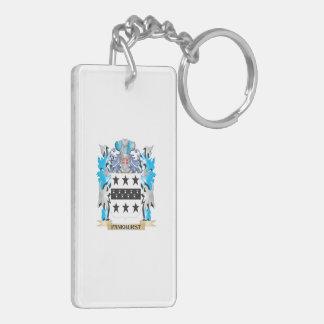 Pankhurst Coat of Arms - Family Crest Double-Sided Rectangular Acrylic Keychain
