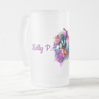PanMan in Glory (Personalized) Frosted Glass Beer Mug
