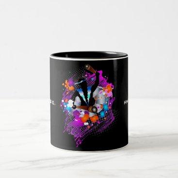 Beach Themed PanMan in Glory (Personalized) Two-Tone Coffee Mug