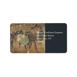 Panneaux pour Baraque de Goulue Toulouse-Lautrec Address Label