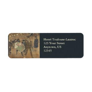 Panneaux pour Baraque de Goulue Toulouse-Lautrec Return Address Label