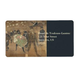Panneaux pour Baraque de Goulue Toulouse-Lautrec Shipping Label