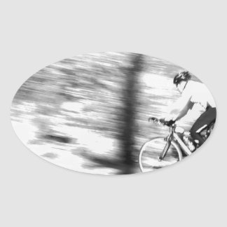 Panning Bike_.jpg Oval Sticker