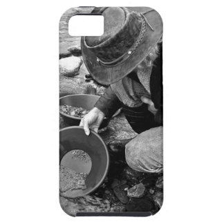 Panning for Gold Black and White iPhone 5 Covers