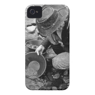 Panning for Gold Black and White iPhone 4 Case