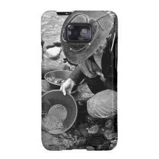 Panning for Gold Black and White Samsung Galaxy SII Cases