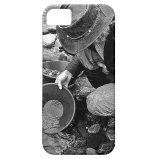 Panning for Gold Black and White iPhone 5 Cover