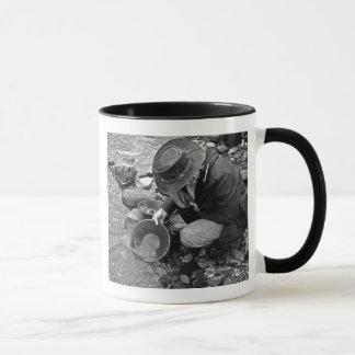 Panning for Gold Black and White Mug