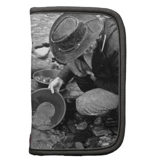 Panning for Gold Black and White Organizers