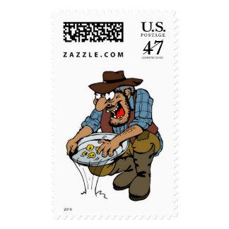 Panning Postage Stamp