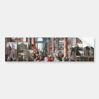 Pannini - galería de vistas de Roma moderna Pegatina Para Auto