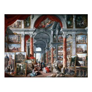 Pannini - galería de vistas de Roma moderna Postales