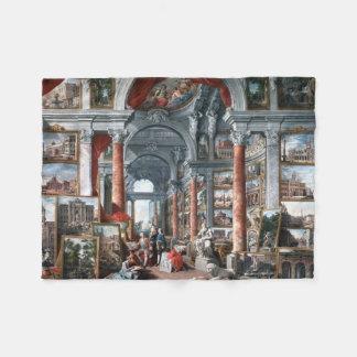 Pannini - Gallery of Views of Modern Rome Fleece Blanket