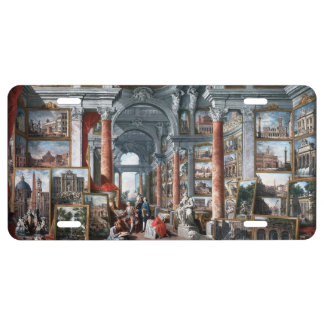 Pannini - Gallery of Views of Modern Rome License Plate
