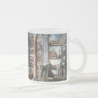 Pannini - Gallery of Views of Modern Rome 10 Oz Frosted Glass Coffee Mug