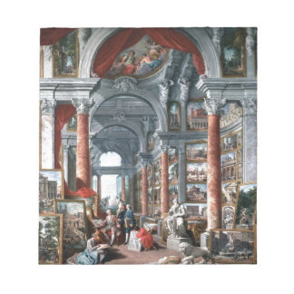 Pannini - Gallery of Views of Modern Rome Notepad