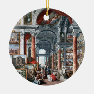 Pannini - Gallery of Views of Modern Rome Christmas Ornament