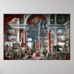 Pannini - Gallery of Views of Modern Rome Print