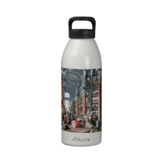 Pannini - Gallery of Views of Modern Rome Water Bottle