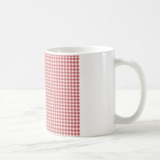 Paño a cuadros rojo taza de café