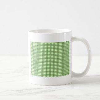 Paño a cuadros verde tazas de café