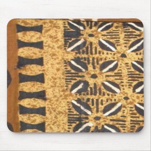 Paño africano del fango con el cojín de ratón de l tapetes de raton