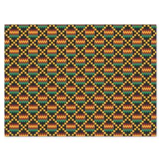 Paño amarillo, verde, rojo, negro de Kwanzaa Kente Papel De Seda