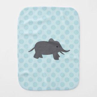 Paño azul del Burp con diseño del elefante Paños Para Bebé