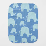 Paño azul del Burp del elefante Paños Para Bebé
