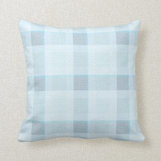 Paño comprobado azul almohada