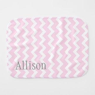 Paño conocido de encargo gris rosado del Burp de C Paños Para Bebé