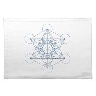 Paño cristalino de la rejilla - el cubo de Metatro Mantel