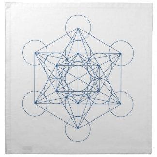 Paño cristalino de la rejilla - el cubo de Metatro Servilleta Imprimida