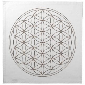 Paño cristalino de la rejilla - flor de la vida servilletas imprimidas