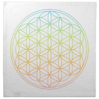 Paño cristalino de la rejilla - flor de la vida servilleta imprimida