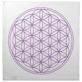 Paño cristalino de la rejilla - flor de la vida servilletas de papel
