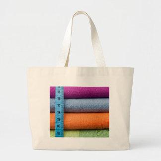 Paño de algodón colorido con la cinta métrica bolsa tela grande