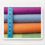 Paño de algodón colorido con la cinta métrica tapete de ratones