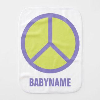 Paño de encargo del burp del bebé del signo de la paños de bebé