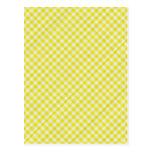 paño de mesa de picnic amarillo tarjeta postal