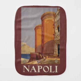 Paño del burp de Napoli Nápoles Italia del vintage Paños De Bebé