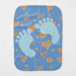 Paño del Burp del bebé de las huellas del bebé Paños De Bebé
