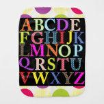 Paño del Burp del bebé del alfabeto Paños De Bebé