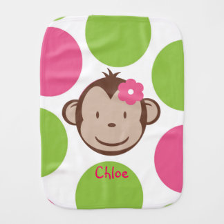 Paño del Burp del chica del mono de la MOD Paños Para Bebé