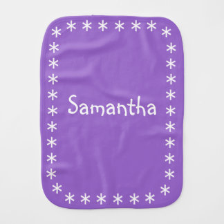 Paño del Burp del color para la púrpura Amethyst Paños De Bebé