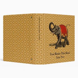 """Paño del elefante indio w/Red Carpeta 1 1/2"""""""