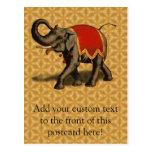 Paño del elefante indio w/Red Postal